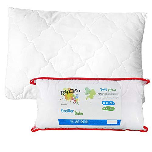Pati'Chou oreiller coussin plat tissu 100% coton pour lit bébé ou enfant - 40 x 60 cm
