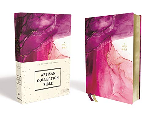 NIV, Artisan Collection Bible, Cloth over Board, Pink, Art Gilded Edges, Red Letter, Comfort Print