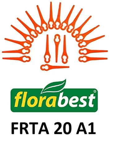 20 Lame di ricambio/Coltello/coltelli di plastica per la FlorabBest FRTA20 A1 decespugliatore...