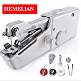 Hemelian Portable Sewing Machine, Mini Sewing Professional Cordless Sewing Handheld Electric Household Tool - Quick Stitch Tool for Fabric, Clothing, or Kids Cloth Home Travel Use