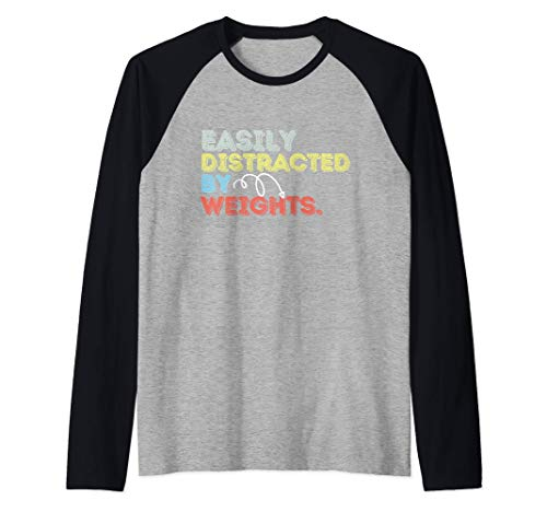 Easily Distracted By Video Games Funny Mens Womens Raglan Baseball Tee