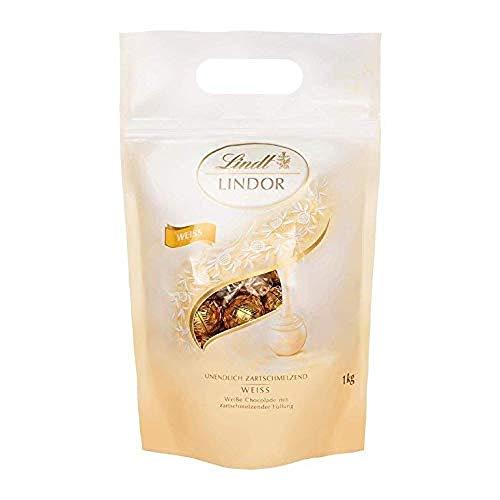 Lindt Lindor Bolsa 1Kg Bombones de Chocolate Blanco