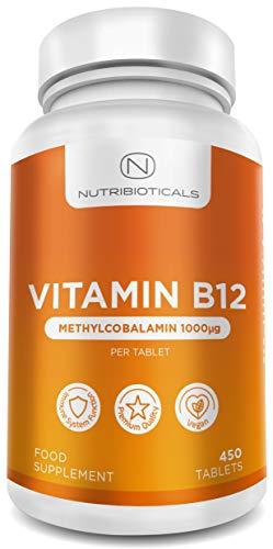 Vitamina B12 Metilcobalamina 1000mcg 365 Tabletas (Suministro para 12...