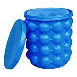 LAOXUE Ice Cube Mold Ice Trays, Large Silicone Ice Bucket, (2 in 1) Ice Cube Maker, Round,Portable,For Frozen Whiskey, Cocktail, Beverages