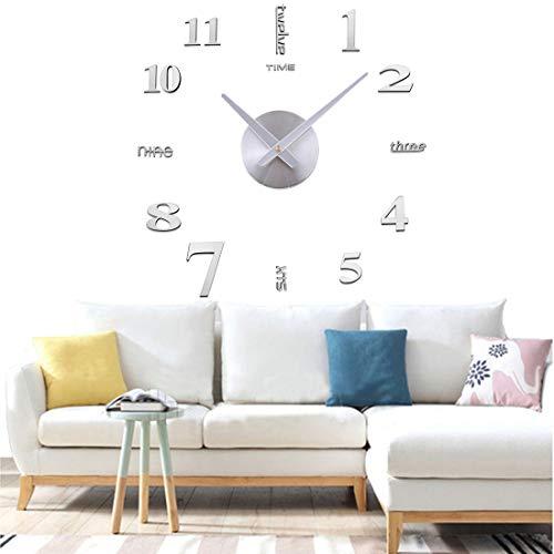 Yolistar Moderno Orologio da Parete Fai da Te, 3D Adesivo Orologio Parete Decorazione, Silenzioso...