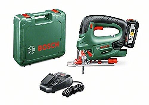 Bosch Akku Stichsäge PST 18 LI (1 Akku, 18 Volt System, im Koffer)