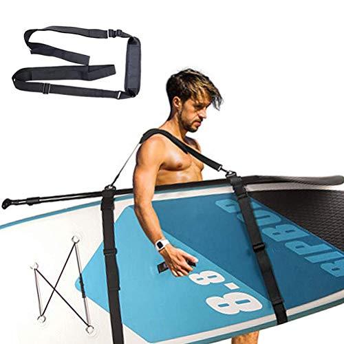 Kangmeile Tragegurt für SUP Board, Surfbrett Schultergurt, Spanngurt Mit Gummischnalle für Kajak, Kanu, Surfboard, Segel, Unisex, Schwarz