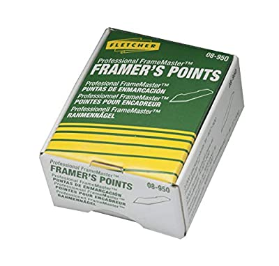PERMANENT ARTWORK ASSEMBLY: This quality framing point, when used with Fletcher's Framers Points, will permanently hold glass, artwork, and backing materials in place. Get that high-quality art gallery appearance without extra work or effort. This dr...