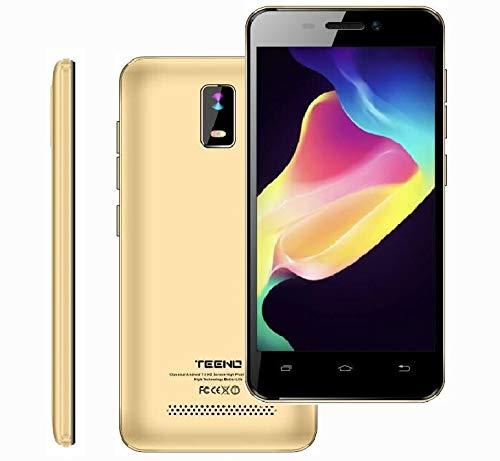4G/WiFi Smartphone Pas Cher 1Go RAM 8Go ROM 4.0' HD IPS Téléphone Portable Débloqué TEENO(Android Double SIM Double Caméras Quad Core) (Or)
