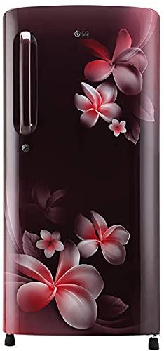 LG 190 L 4 Star Inverter Direct-Cool Single Door Refrigerator (GL-B201ASPY, Scarlet Plumeria, Moist...