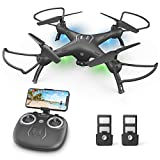 DronewithCameraforKids/Adults/Beginners-1080PHDDrones for Adults, with120°Wide-Angle CameraDrone, girls / boys gift, Safe Design & Easy to Control with Remote/APP/Voice, 18 mins Fight Time