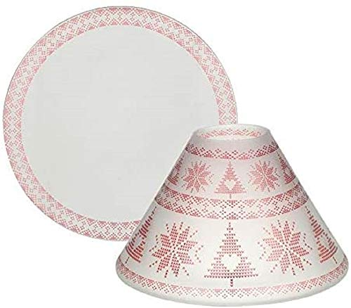 Yankee Candle - Ombrello grande e piatto in vetro, multicolore, 15 cm, colore: Rosso nordico
