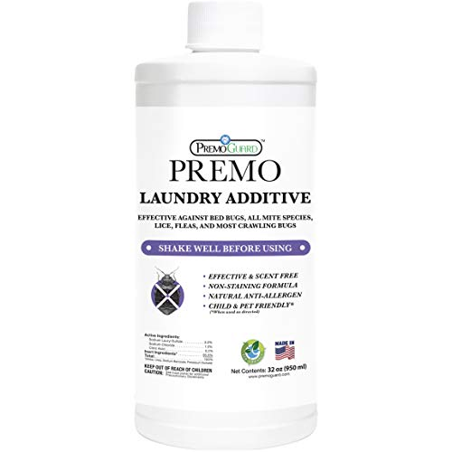 Bed Bug & Mite Killer Laundry Detergent Additive by Premo Guard – 32 oz – Child & Pet Friendly – Stain & Odor Free – Best Natural Treatment – Industry Approved – Satisfaction Guarantee