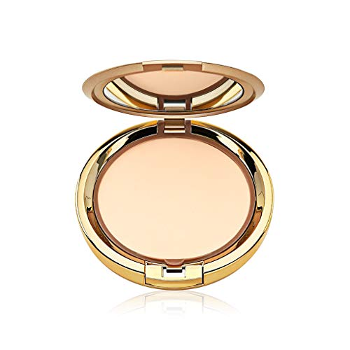 Milani Even Touch Powder Foundation - Shell (0.42 Ounce) Vegan, Cruelty-Free Pressed Powder Foundation with Medium-to-Full Coverage to Conceal Imperfections