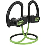 Mpow Flame Bluetooth Headphones V5.0 IPX7 Waterproof Wireless headphones, Bass+ HD Stereo Wireless Sport Earbuds, 7-9Hrs Playtime, cVc6.0 Noise Cancelling Mic for Home Workout, Running,Gym Green Black