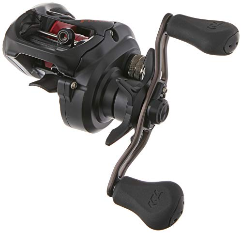 Daiwa Fuego Left Hand- CT Baitcasting Reel FGCT100XSL, Black/Red