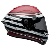 Bell Race Star DLX Full-Face Motorcycle Helmet (RSD The Zone Matte/Gloss White Candy Red, Large)