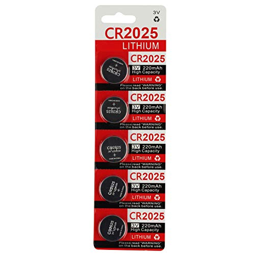 CR2025 Key Fob Remote Battery (5-Pack)