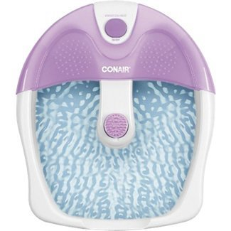 Conair Foot Bath and Heat Massager Features Toe-Touch Controls for Heat and Vibration with Nodes on Splashguard and Base for Extra Massage Action, Bonus Massage Attachment Included