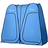 WolfWise 2 Room Pop Up Shower Privacy Tent Dressing Room Sun Shelter for Outdoor Camp Toilet Camping Biking Fishing