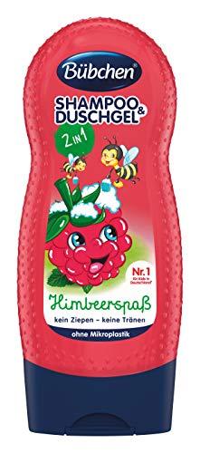Bübchen Kids Shampoo & Duschgel Himbeerspaß, Kinder-Shampoo & -duschgel, pH-hautneutrale Waschlotion für sanfte Kinderhaut, mit Himbeer-Duft, 1er Pack (1 x 230ml)