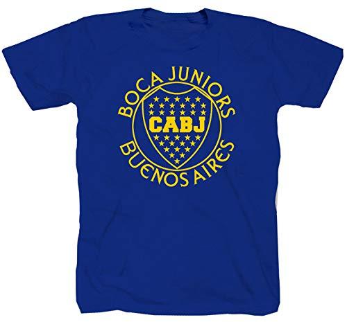 Boca Juniors Jugador Ultras Curva Brigata Maglietta da calcio Ultra Derby T-shirt shirt blu S