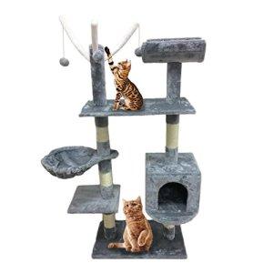 Homgrace Arbol para Gatos con Rascador y Juguete para Relajarse
