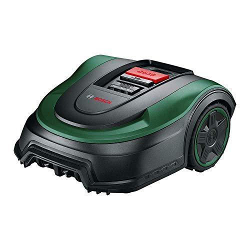 Tondeuse robot Bosch - Indego S 500 (avec batterie 18V, station de charge incluse, largeur de coupe de 19 cm, capacité de tonte maximale de 500 m², dans un emballage en carton)