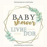Baby shower Livre d'or: Cadeau pour une future maman,pour écrire des mots personnalisés, des félicitations, souvenirs