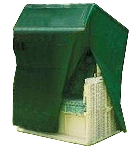 Kronenburg Schutzhülle Strandkorb Abdeckhaube, Grün, 135-165 x 125 x 90 cm - Abdeckung für Gartenmöbel -weitere Schutzhüllen wählbar