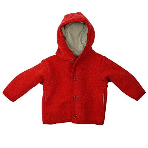 Disana Kinder Baby Walk-Jacke 100{5df21b06d185c6112bf357dcdd3219d110e4c204bfd0b4a680602958cd866469} Bio-Schurwolle (74/80, Rot)