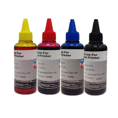 KIT Ricarica cartucce 4 x 100ml universale inchiostro colori per Brother , Canon , Epson , HP ,...