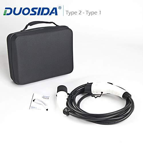 DUOSIDA Cable de carga - Tipo 1 a Tipo 2 -16A