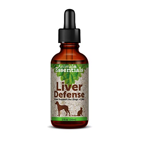 Animal Essentials Liver Defense for Dogs & Cats 1 Fluid Ounce - Made in USA Dandelion & Milk Thistle Liver Support