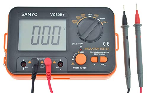SAMYO VC60B+ Digital Insulation Resistance Tester DCV ACV Meter