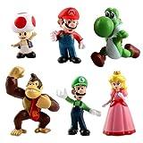 Super Mario Cupcake Toppers, Figuras de Super Mario Bros para Decoración de Tartas, Suministros...
