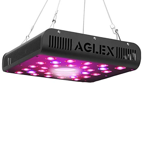 AGLEX 600W COB LED Grow Light, Full Spectrum UV IR Reflector Series Plant Grow Lamp, with Daisy Chain, Veg and Bloom Switch, for Hydroponic Greenhouse Indoor Plant Veg and Flower