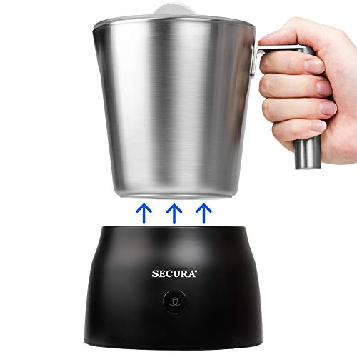 Secura 4 in 1 Electric Automatic Milk Frother and Hot...