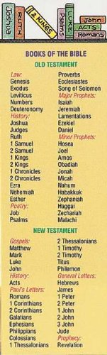 Books of The Bible Bookmarks Multi-Pack (25)