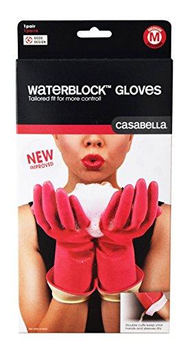 Casabella ゴム手袋 ピンク M ウォーターブロックグローブ