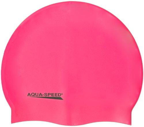 Aqua Speed - Bademütze/Schwimmkappe - Super-stretch Mega 100-03 (rosa)