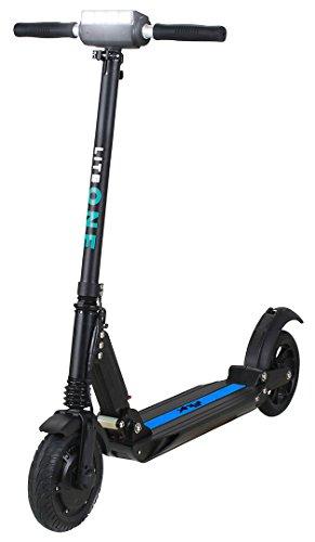eFlux Lite One Elektroroller Scooter - 500 Watt Motor - Bis 30 km/h - 30 Km Reichweite - Nur 10,8 Kg leicht - Klappbar - E-Scooter (Lite One Schwarz Blau)