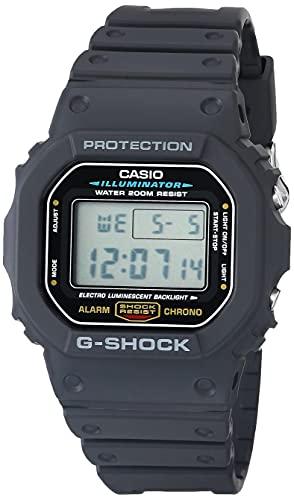 Casio Men's G-Shock Quartz Watch with Resin Strap, Black, 20 (Model: DW5600E-1V)