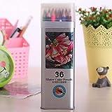 lapiceros SFBBBO Lápices de acuarela Herramienta estacionaria Caja de acuarela Juego de lápices de colores Suministros de dibujo profesional 36ColorsSet