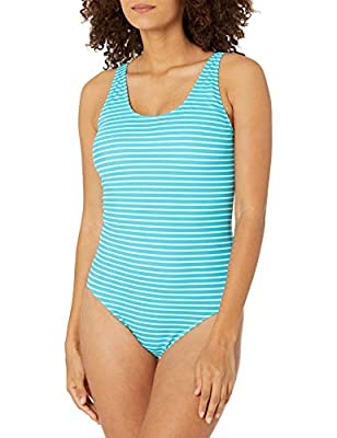 Beat the heat in this vacation-ready one-piece swimsuit Features full coverage for modesty and light bust support Everyday made better: we listen to customer feedback and fine-tune every detail to ensure quality, fit, and comfort