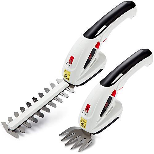 NETTA Akku-Gartengeräte 7.2V 2 in 1 Strauchschere, Rasenmäher und Heckenschere, Kanten- und Strauchschere - Handheld