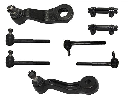 Detroit Axle Brand New Complete 8-Piece Front Suspension Kit for Chevrolet & GMC Trucks 4x4 10-Year Warranty All (4) Inner & Outer Tie Rod, Both (2) Adjustment Sleeve, Both (2) Pitman Arm & Idler Arm…