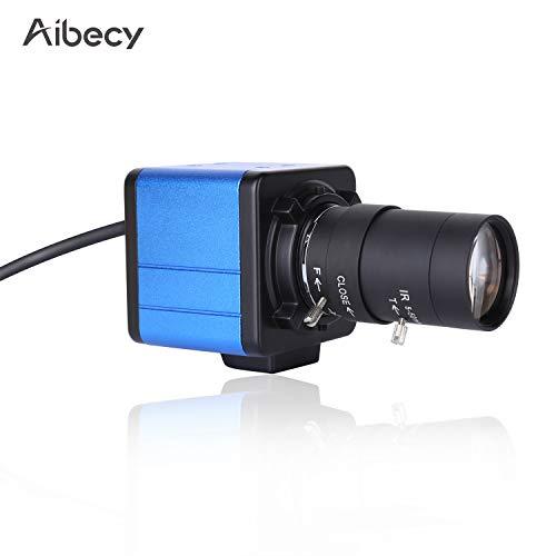 Ajcoflt Videocamera HD 1080P Videocamera per computer Webcam 2 Megapixel Zoom ottico 10X Zoom grandangolare 80 gradi Messa a fuoco manuale Compensazione dell'esposizione automatica con microfono USB