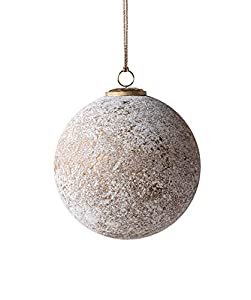 "Made from glass Marbled antique silver color with gold finish 8"" round Package Length of the Product: 8.6"""