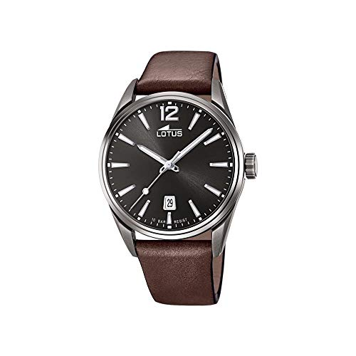 Lotus Herren Analog Quarz Uhr mit Leder Armband 18685/1